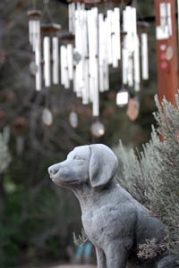 Statue at Angels Rest, much more than a pet cemetery at Best Friends