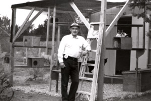 Best Friends co-founder John Fripp at one of the old cat building at Best Friends Animal Sanctuary