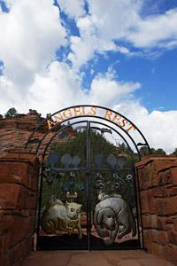 Angels Rest gate at Best Friends Animal Sanctuary