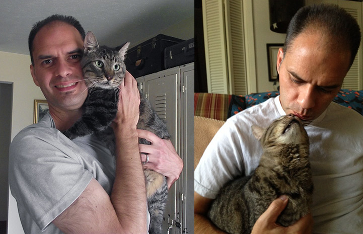 Mike fostered Major as he attempted to find a home for the cat