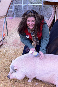 Chrissy Rollyson also volunteers at the Sanctuary