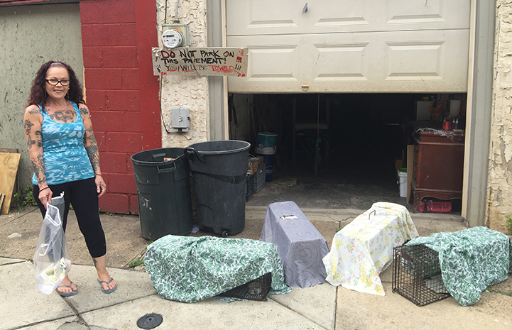 Kat McCord not only trapped cats on her block for spay and neuter, when she knocked on neighbors' doors they were grateful for her help getting their eight indoor/outdoor cats and kittens spayed and neutered too.