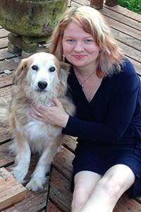 Elizabeth Doyle and dog