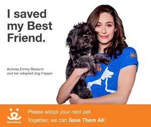 Emmy Rossum in Best Friends Animal Society's  'I Saved My Best Friend' campaign