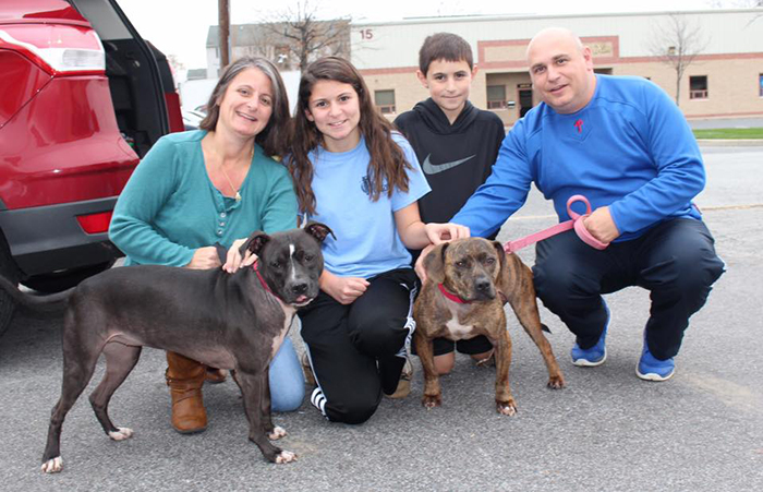 Adopted dog from Faithful Friends Animal Rescue with new family