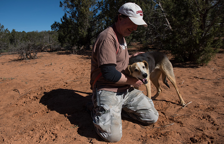 Dogtown caregiver Tom Williams chose Sequoia as his project dog
