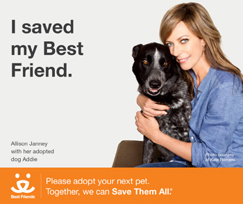 Allison Janney joins Best Friends Animal Society's 'I Saved My Best Friend' campaign