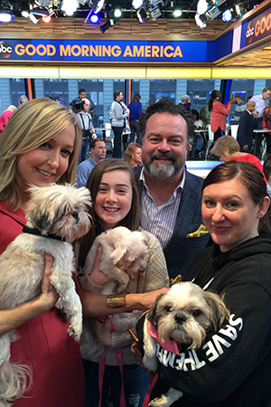 "Gracie found her new home thanks to the folks at ""Good Morning America"""