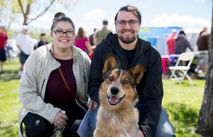 Coyote the dog is all smiles at the NKUT Super Adoption