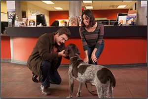 "Ron Swanson on a quest to adopt a dog for his two stepdaughters on ""Parks and Recreation"""