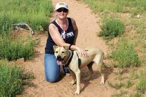 Every year, Wendy returns to the Sanctuary to reunite with her old friend Hurricane Survivor dog Scratch
