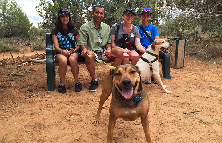 Volunteer Hailey Shah enjoying time with her family at Dogtown