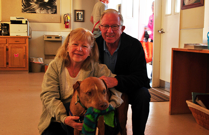 Herb and Sandy Doscher with Doc the dog