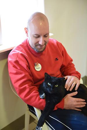 Howard Haber volunteering at Cat World