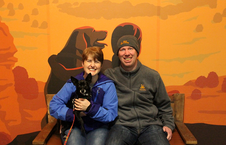 Kat and Dwayne loved the sleepovers with Clank the Chihuahua mix so much, they adopted him