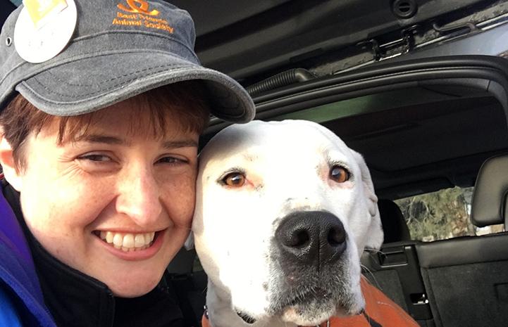 Kat Weixel volunteering at Dogtown