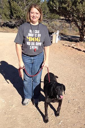 Volunteer Tracey Lacka volunteering at Dogtown