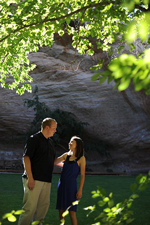 The Sanctuary provided the perfect background for Chris' proposal to Lauren