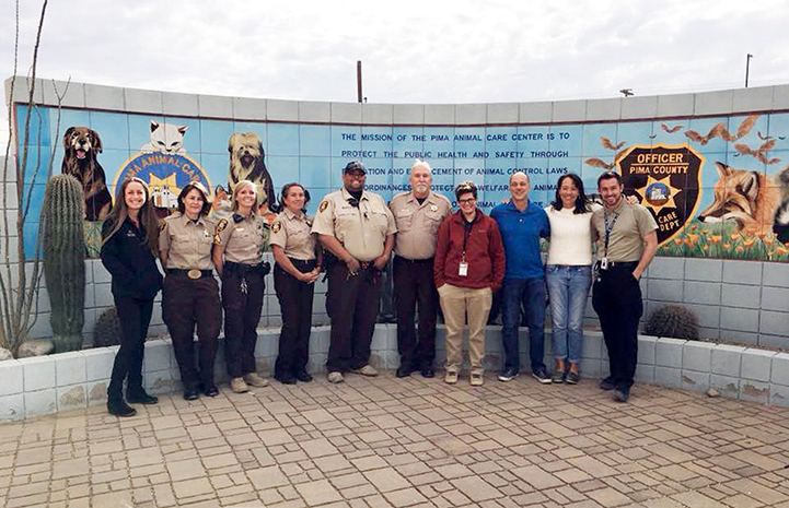 Michelle Logan and Scott Giacoppo with Pima County officers