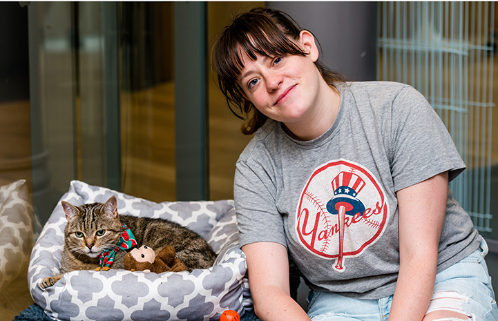 Staff was convinced that once Alissa got Peta home, the cat's sweet and gentle side would emerge - and it did