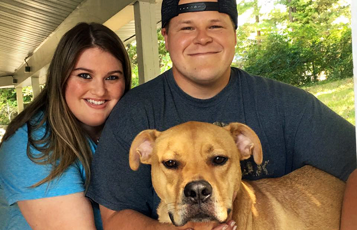 As soon as Jaclyn and James saw Tyler the dog, they knew they could give him the home he'd been waiting for