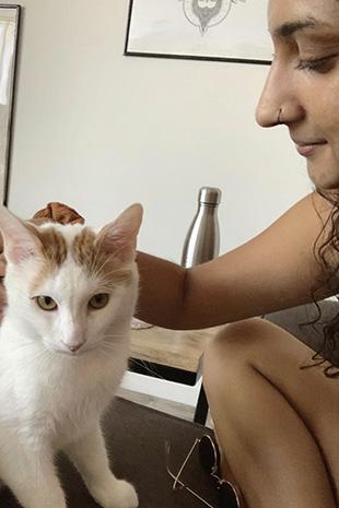 Chief the cat with Salma