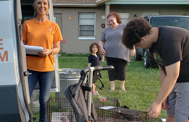 Neighbors were eager to help return cats in Osceola