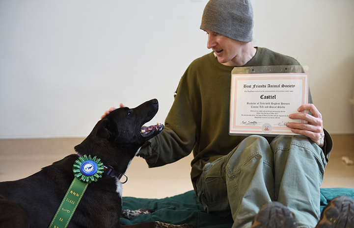 Castiel aced Canine Life and Social Skills class