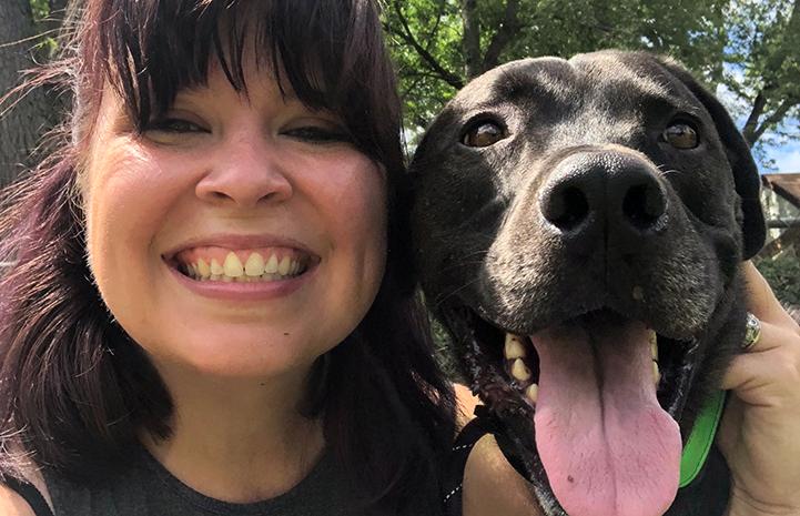 Selfie of Elisha with Swing the dog