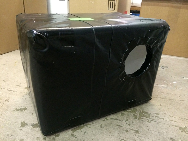 Feral cat wrapped cooler shelter