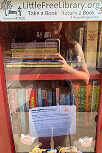 Kindness card put in a Free Little Library