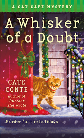 Cover of the book, A Whisker of a Doubt: A Cat Café Mystery