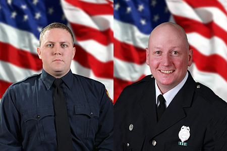 Firemen Jamie Dickman and Stephen Machcinski