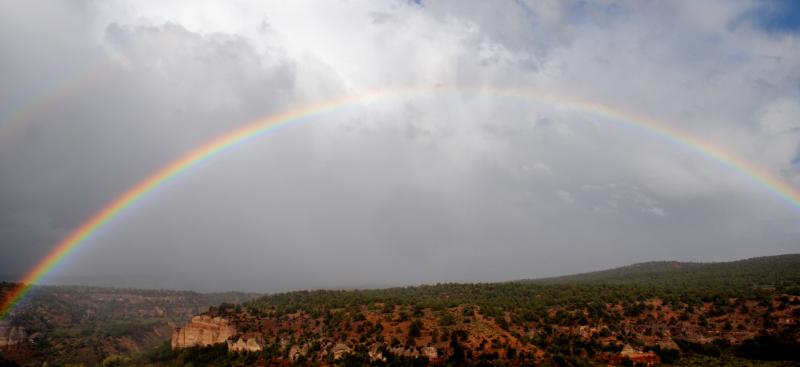 Rainbow over Angel Canyon in Kanab UT