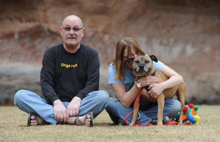 Ray the Vicktory dog and his family