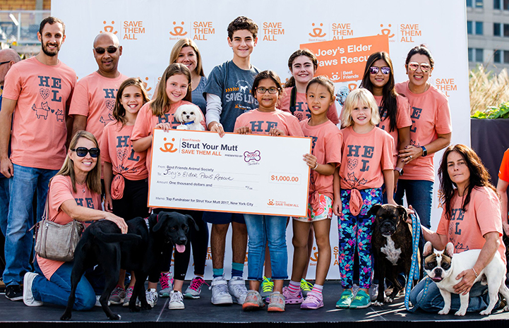 Joey's Elder Paws won the top fundraiser award during the 2017 Strut Your Mutt in Salt Lake City