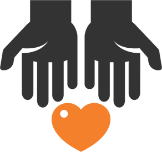 graphic of two hands cupping a heart