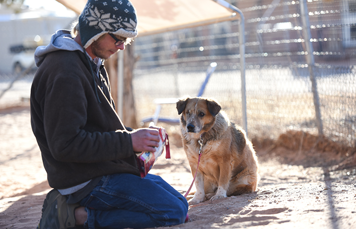 Dogtown caregiver Adam Stahlnecker says Juanita is a rock star