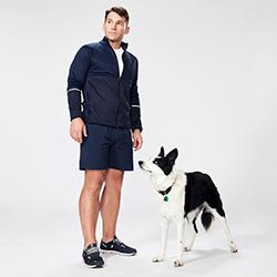 Mark LeBlanc and Ace the dog