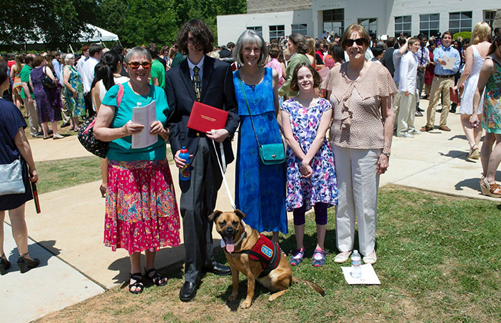 Grace was the first emotional support dog approved by the University of Alabama at Birmingham