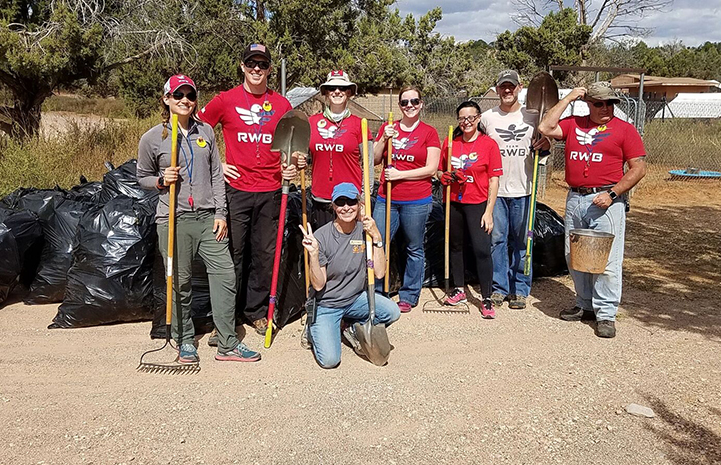Team Red, White & Blue (Team RWB) gathered in Marshall's Piggy Paradise to do some cleanup work