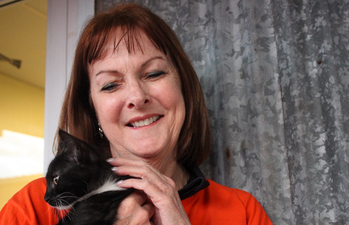 Volunteer Kathy Moran has fostered 20 kittens, some as young as 10 days old, and three momma cats