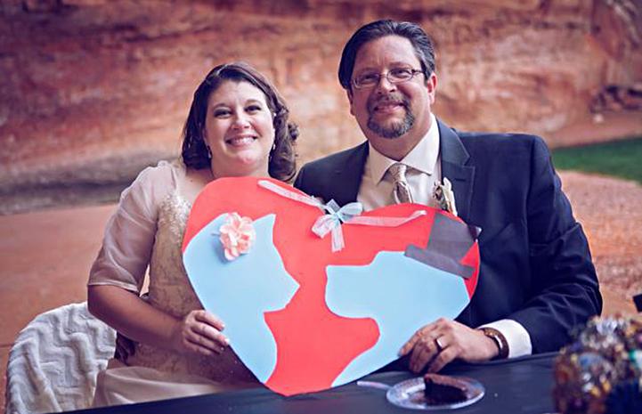 On a volunteer visit to Best Friends in 2015), Joe and Jennifer Dujka were married at Angel's Landing