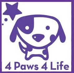 4 Paws 4 Life Rescue (Aurora, Colorado) logo with a dog and star