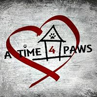 A Time 4 Paws log with heart, house and pawprint