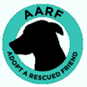 Adopt A Rescued Friend logo with dog in circle