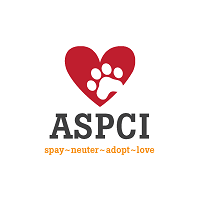 "Animal Shelter of Pell City (Pell City, Alabama) ASPCI logo with heart, paw print, and tagline ""Spay neuter adopt love"""