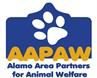 Alamo Area Partners for Animal Welfare with AAPAW and paw print