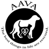 "Animal Aid for Vermilion Area (Abbeville, Louisiana) logo with dog, cat, heart and tagline ""The best things in life are rescued"""