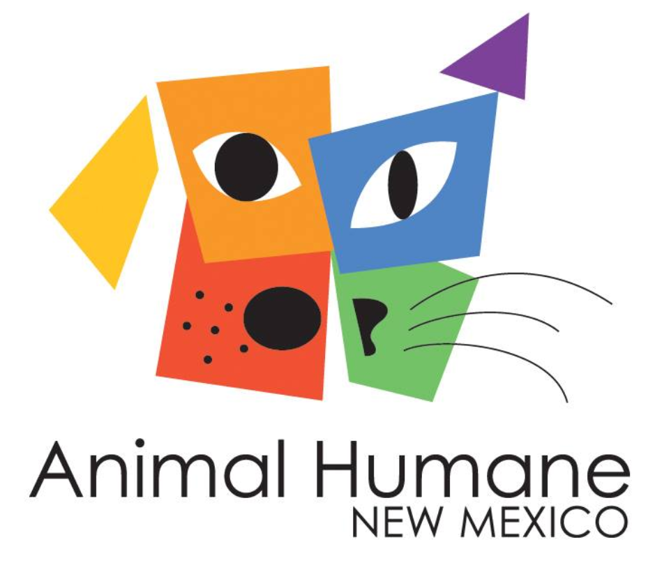 Animal Humane New Mexico (Albuquerque, New Mexico) multicolored logo with animal face made of shapes